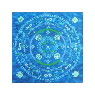 Tribal Mandala on canvas Canvas Print