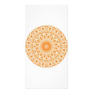 Tribal Mandala Orange Card