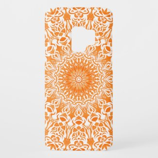 Tribal Mandala Orange Case-Mate Samsung Galaxy S9 Case