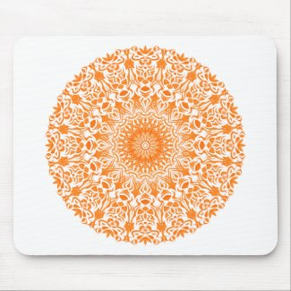 Tribal Mandala Orange