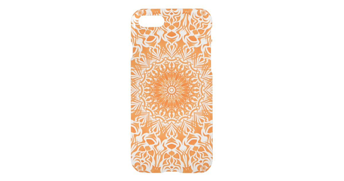 Tribal Mandala Orange Uncommon iPhone Case | Zazzle.com