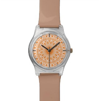 Tribal Mandala Orange Watch