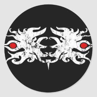 Tribal Mane Round Sticker