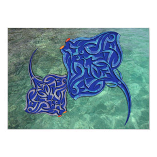 Tribal Manta Rays Card