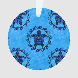 Tribal Maori Sun Turtle Ornament