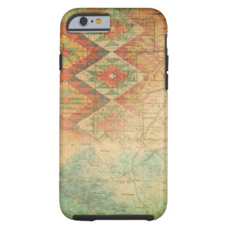 Tribal Map Rustic Earth Tone Brown Tea Tint Tough iPhone 6 Case