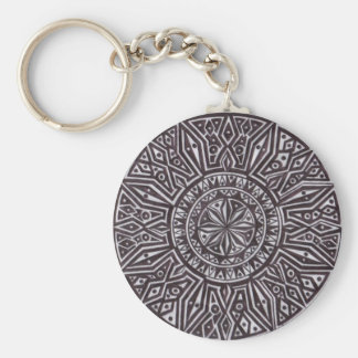 tribal mark.PNG Pen and Ink Drawing (Tribal Mark) Keychain