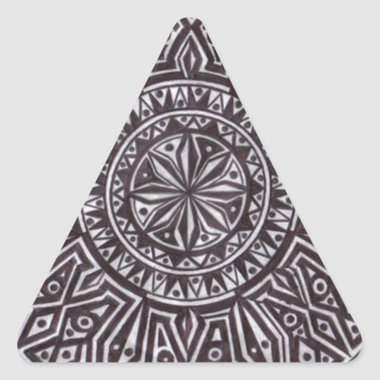 tribal mark.PNG Pen and Ink Drawing (Tribal Mark) Triangle Sticker