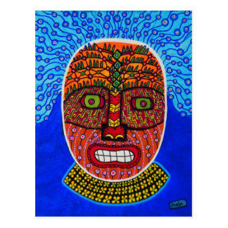 Tribal Mask 2 Postcard
