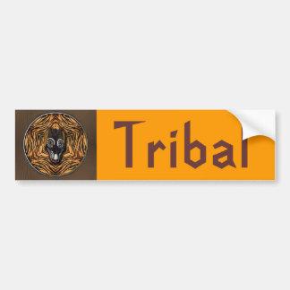 Tribal mask car bumper sticker