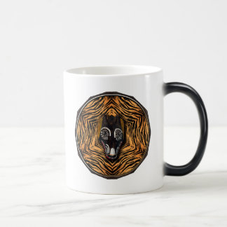 Tribal mask magic mug