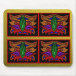 Tribal Mask Mouse Pad