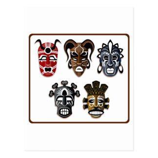 Tribal Masks Postcard