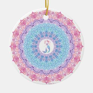 Tribal Mermaid Mandala Ceramic Ornament
