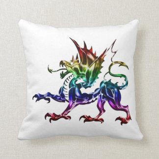 Tribal Metallic Dragon Pillow
