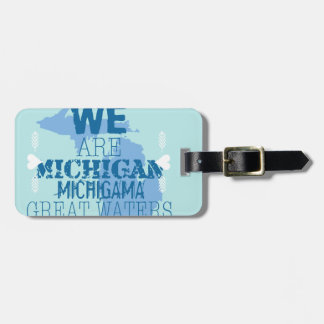Tribal Michigan Michigama Great Waters Up North Luggage Tag