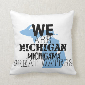 Tribal Michigan Michigama Great Waters Up North Throw Pillow