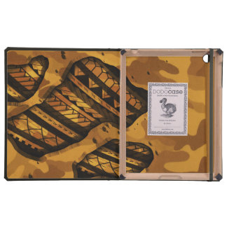 Tribal military camouflage tattoo design