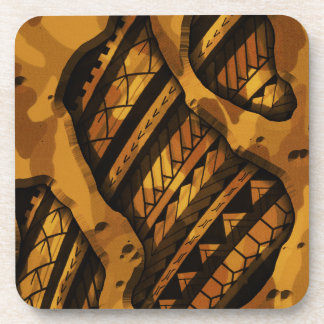 Tribal military camouflage tattoo design drink coaster