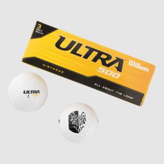 Tribal Modern Wolf Golf Balls