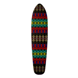 Tribal mosaic pattern skate board