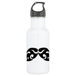 Tribal Mustache Water Bottle