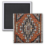 Tribal Native American Earth Tones Mosaic 2 Inch Square Magnet