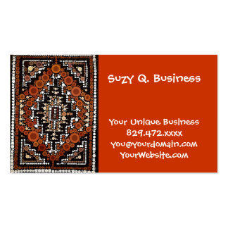 Tribal Native American Earth Tones Mosaic Business Card