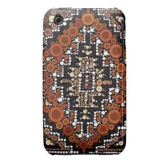Tribal Native American Earth Tones Mosaic iPhone 3 Case