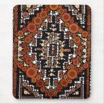 Tribal Native American Earth Tones Mosaic Mouse Pad