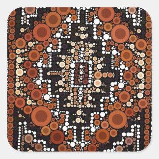 Tribal Native American Earth Tones Mosaic Square Sticker