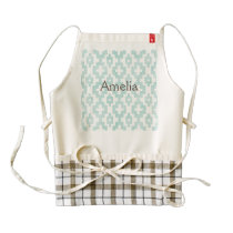 Tribal,native,trellis,mint,grunge,vintage,pattern, Zazzle HEART Apron