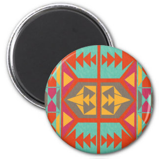 Tribal nativo neo imán redondo 5 cm