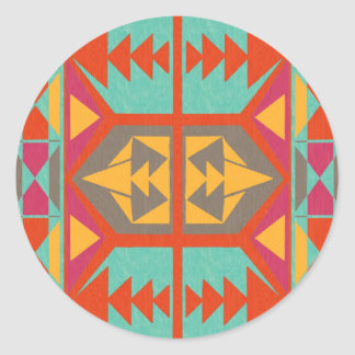 Tribal nativo neo pegatina redonda