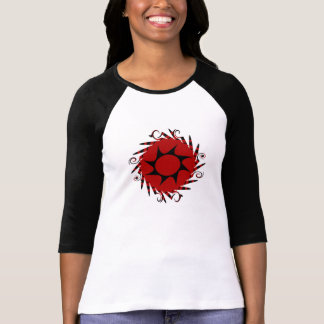 Tribal negro y rojo como la camiseta