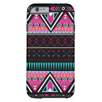Tribal Neon Pink Arrows Pyramids Teal Tough iPhone 6 Case