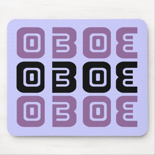 Tribal Oboe Music Mouse Pads