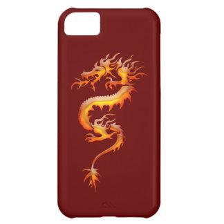 Tribal Orange Fire Dragon Fantasy Art iPhone Case Case For iPhone 5C