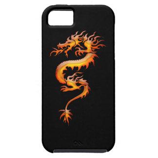Tribal Orange Fire Dragon Fantasy Art iPhone Case iPhone 5 Covers