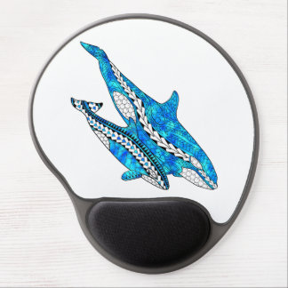 Tribal Orca Whales Gel Mouse Pad