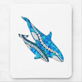 Tribal Orca Whales Mouse Pad