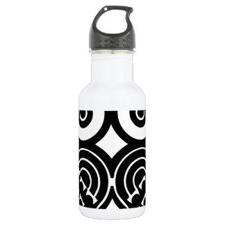 Tribal owl design stainless steel water bottle