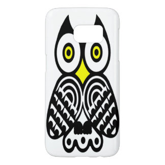 Tribal Owl in Black Samsung Galaxy S7 Case