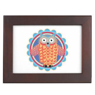 Tribal Owl Keepsake Boxes