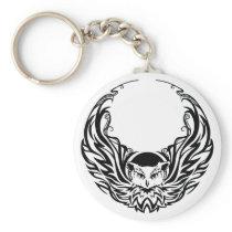 Tribal Owl Keychain