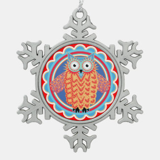 Tribal Owl Ornament