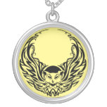 Tribal Owl Silver Plated Necklace