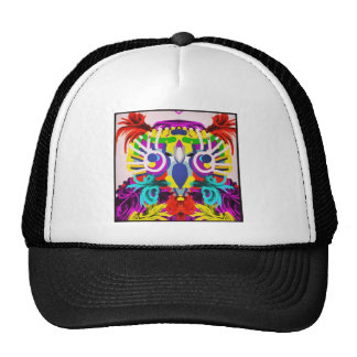 Tribal Owl With Many Colors Trucker Hat