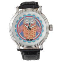 Tribal Owl Wristwatch