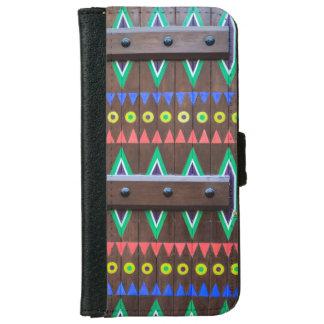 Tribal Painted wood Door wallet case